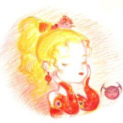Рисунок Терры работы Ёситаки Амано для музыкального альбома аранжировок <i>Grand Finale</i>.