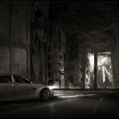 Concept art of a car.