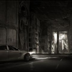 Arte conceitual de um carro.