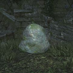 Stone with Althyk's symbol <i>Final Fantasy XIV</i>.