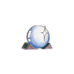 Artwork of the Orb from the <i>Nintendo Power</i> strategy guide for <i>Final Fantasy</i>.