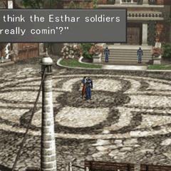 Worried Galbadian soldier in <a href=