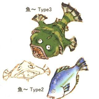 Concept artwork del pez cocinado por Eiko.