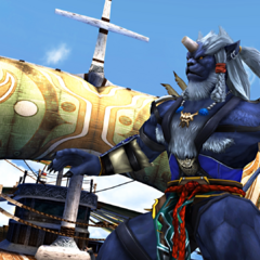 Kimahri on S.S Liki in <i>Final Fantasy X</i>.