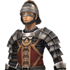 Royal Squire's Chainmail +1 set (Lv34-43)<br />Banded Mail set (Lv46)