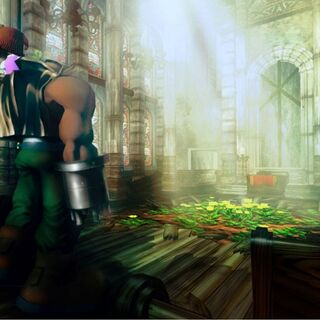 Official wallpaper of Barret and Marlene in the church.