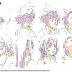 Arte conceitual em anime.