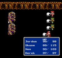 FFIII NES Group-Cast