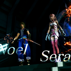 Noel and Serah introduction screen.