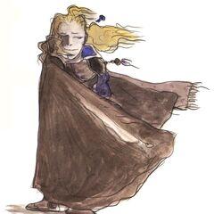 Рисунок Эдгара в стиле чиби работы Ёситаки Амано.
