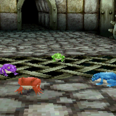 The party as toads in <i>Final Fantasy III</i> (DS).