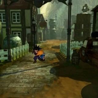 Zack and Cloud escape Nibelheim in <i>Final Fantasy VII</i>.