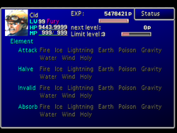 FFVII Status Screen 2