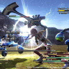 Serah's close-range attack.