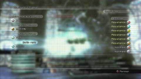 Final Fantasy XIII Combat contre Eliminateur Tiamat