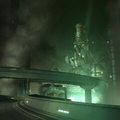 Шоссе Сектора 0 в <i>Crisis Core -Final Fantasy VII-</i>.