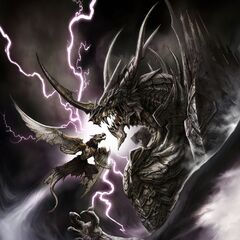 Concept art of Bahamut.