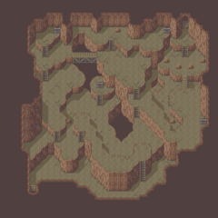 Mist Cave map (GBA).