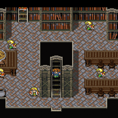 The Japanese dungeon image for <i>Library of the Ancients</i> in <i><a href=