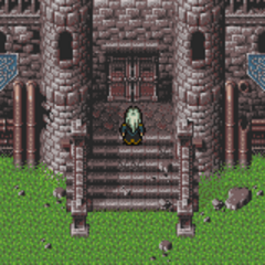 The entrance to Doma (SNES).