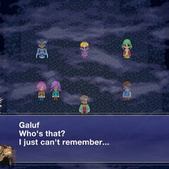 Galuf's amnesia saves the party.