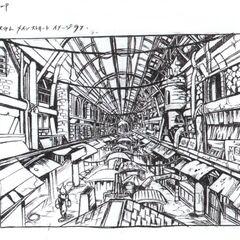 Ранний концепт рынка у Стены.