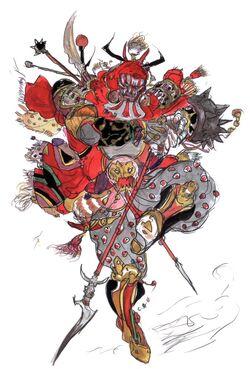 Wonderful Concept Artwork By Yoshitaka Amano For Final Fantasy V.