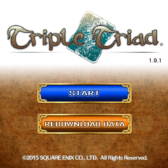 Triple Triad's title screen.