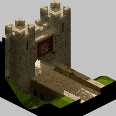 Outside Castle Gate in Lesalia.