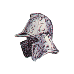 Official art of Mythril Helm from <i>Final Fantasy II</i>.