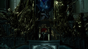 Ardyn on the throne in FFXV Episode Ardyn
