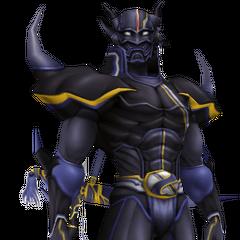 Cecil como um Cavaleiro Sombrio.