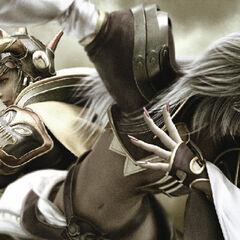 Render em CG junto com o Warrior of Light.