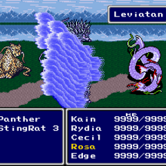 Leviathan being summoned in (SNES).