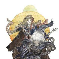 Каин и Голбез, рисунок Ёситака Амано.