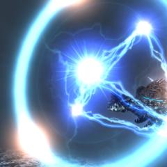 Omega atacando Shinryu.