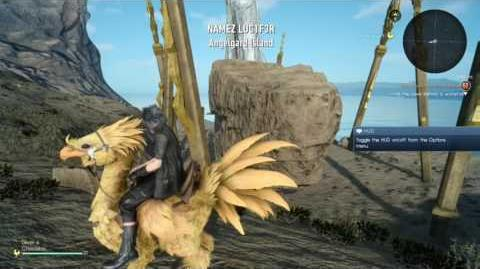 FINAL FANTASY XV - Angelgard Island glitch