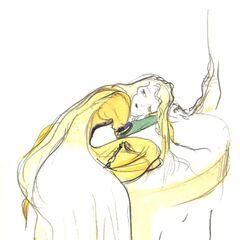 Рисунок Селес работы Ёситаки Амано в стиле чиби.
