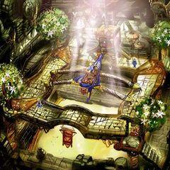 Ceremonial area artwork.