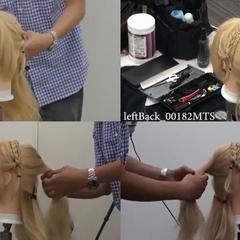 Versão real do cabelo e produção do seu penteado.