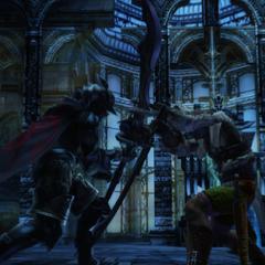 Reddas clashes with Gabranth.