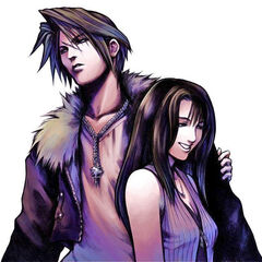 Artwork of Squall and Rinoa by <a href=