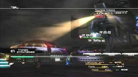 Final Fantasy XIII Combat contre Cuirassé volant