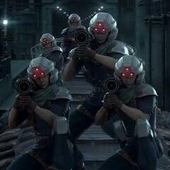 Виртуальные пехотинцы Шинра в <i>Crisis Core</i>.