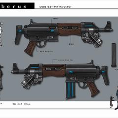 Sub machine gun.