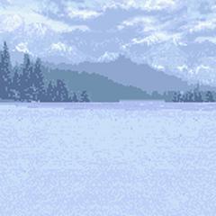 Графический фон сражения (снежное поле)