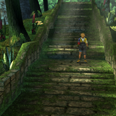 The stairway to the temple in <i>Final Fantasy X</i>.