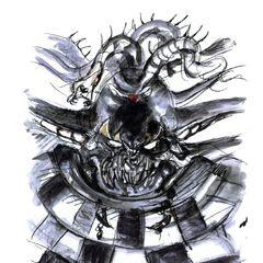 Rosto do Imperador do Inferno por <i>Yoshitaka Amano</i>