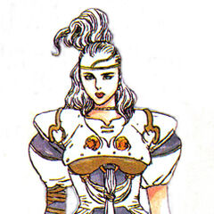 <i>Nintendo Power</i> artwork of Rosa by Katsuya Terada.