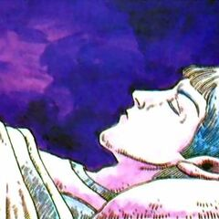 Artwork of the sleeping prince from <i>Nintendo Power</i>.